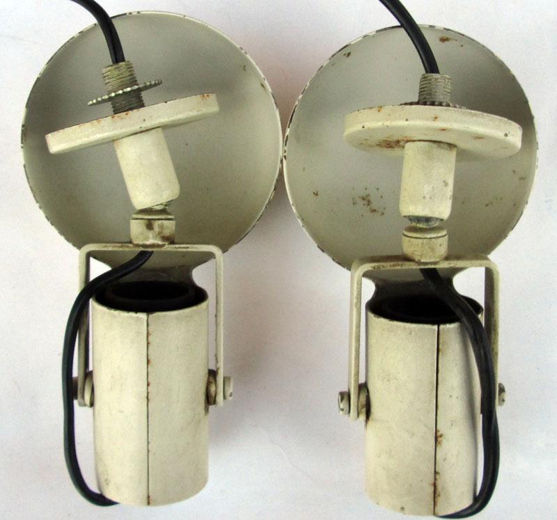 1950 pair applique wall lamp lampade industriali metallo laccato snodabili jelde  eBay