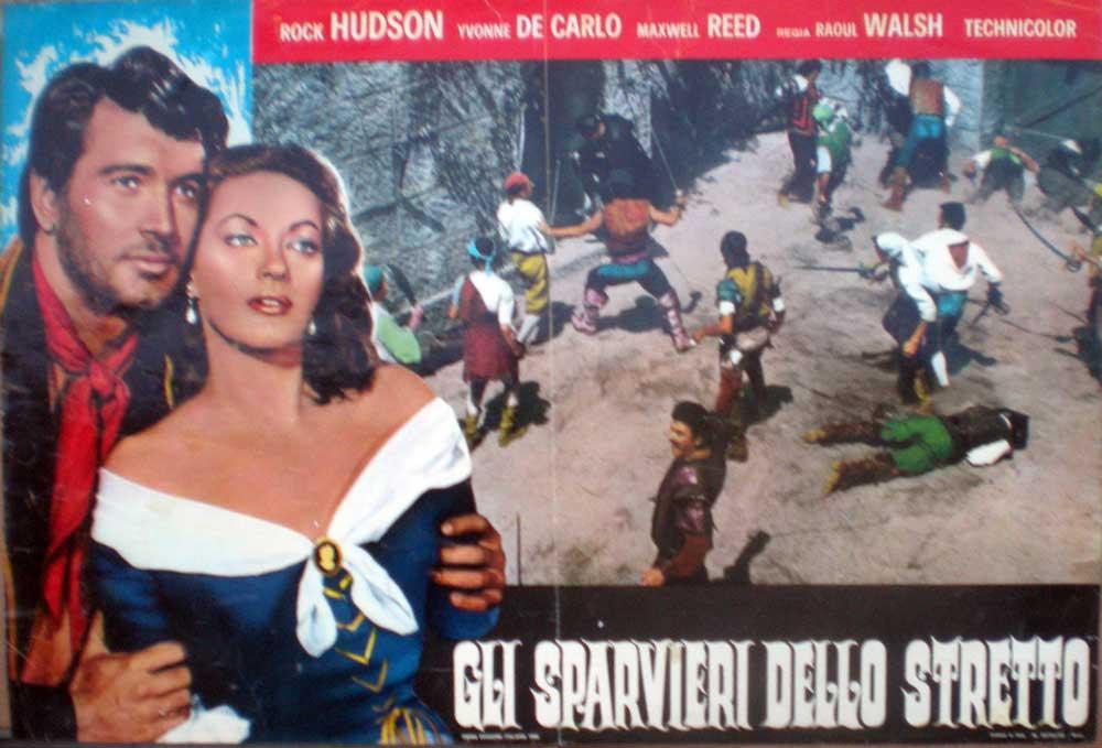 fotobusta 1968 gli sparvieri dello stretto sea devils rock hudson y de carlo 1 ebay. Black Bedroom Furniture Sets. Home Design Ideas